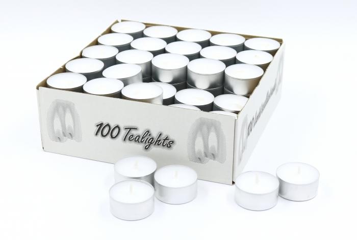 teelichter mit metallh lle 100er pack 9 45. Black Bedroom Furniture Sets. Home Design Ideas