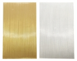 Wax stripes metallic 3mm