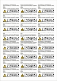 Warning labels candles 6x3cm