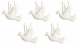 Decoration dove white 5pack