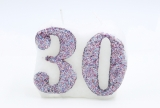 Numbered candle 30