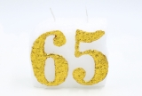 Numbered candle 65