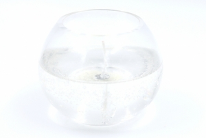 Gelcandle in glass ball 120mm
