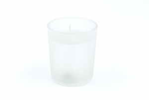 Gelcandle glass votive frosted