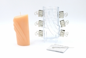 Candle mould decorative bow