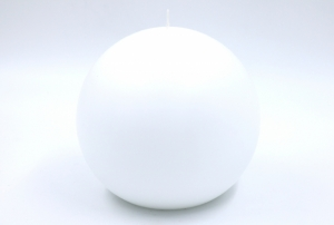 Giant ballcandles white 150mm
