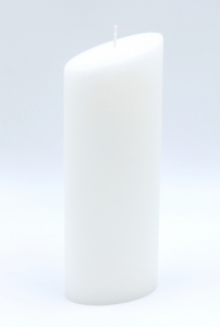 Oval candle white 230x60x90