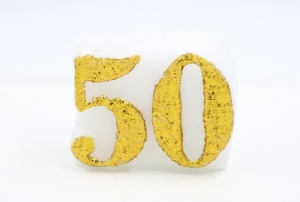 Numbered candle 50
