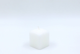 Square candle white 6 x 5 x 5 cm