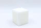 Square candle white 10 x 8 x 8 cm