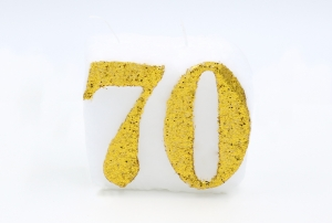 Numbered candle 70