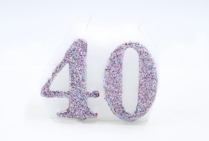Numbered candle 40