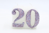 Numbered candle 20