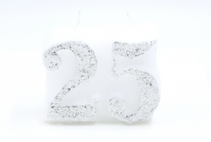 Numbered candle 25