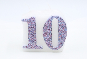 Numbered candle 10