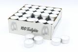 Teelight with metal cup 100box