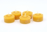 Tealights of pure beeswax