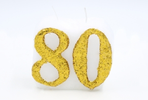 Numbered candle 80