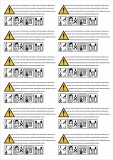 Warning labels 12pcs 10x4cm