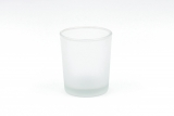 Glass votive frosted