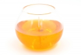 Gelcandle in glass ball 120mm Orange