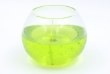 Gelcandle in glass ball 120mm Light green