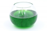 Gelcandle in glass ball 120mm Green