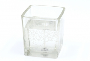 Gelcandle in glass cube 75mm