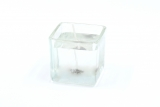 Gelcandle in glass cube 52mm