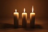 Movie multi wick cand. 150x5mm Cream candle with triple wick