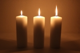 Movie multiwick cand.200x70mm Cream candle with triple wick