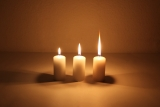 Movie multiwick cand. 4x8 cm Cream candle with triple wick